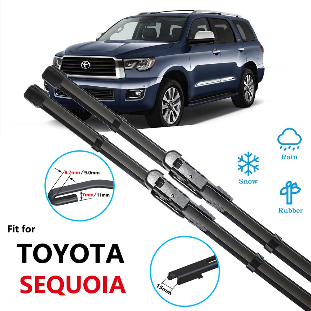 Para Toyota Sequoia XK30 XK40 XK60 2001 ~ 2019 Acessórios Do Carro Brisas Limpadores de Lâmina 2002 2007 2008 2015 2016 2017 2018