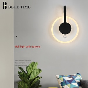 12W Bedside lights Modern Led Wall Light for Bedroom Living Room Wall Lamps with Buttons Indoor Lighting Stair Aisle Lights