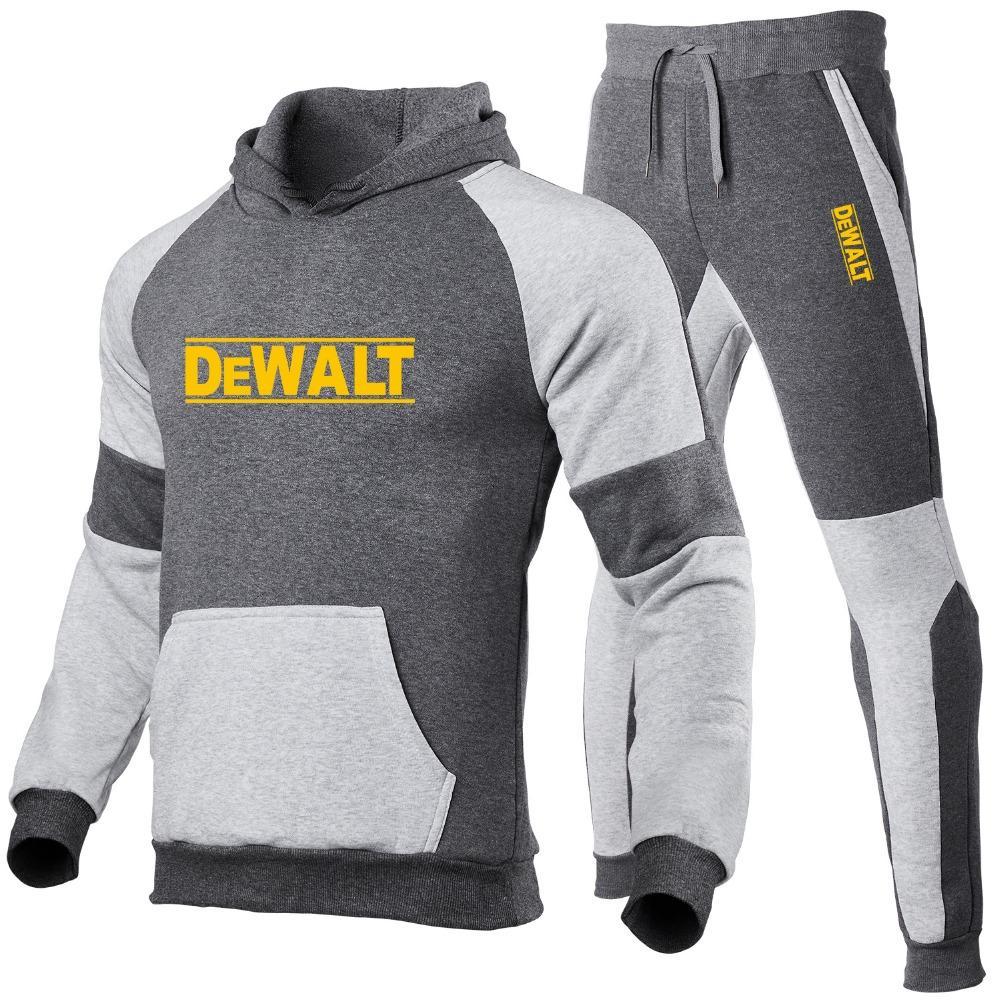 Nowa mska bluza z kapturem zestaw jesie funkcje hot hip hop DeWalt bluza moda koszula mska z spodnie dres
