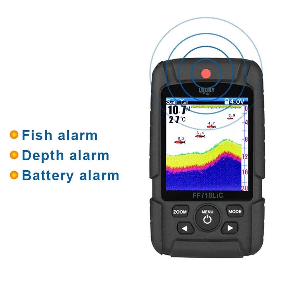 2021 NEW  FF718LiC-W Waterproof Fish Finder Monitor with LCD Colored Display Wireless Smart Sonar Sensor Fish Depth Alarm enlarge