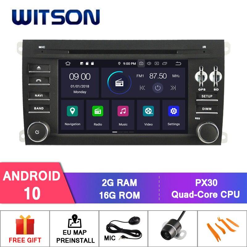 Android WITSON 10,0 IPS HD pantalla para PORSCHE CAYENNE coche DVD RAM de 4GB + 64GB FLASH 8 Octa Core estéreo + DVR/WIFI + DSP + DAB