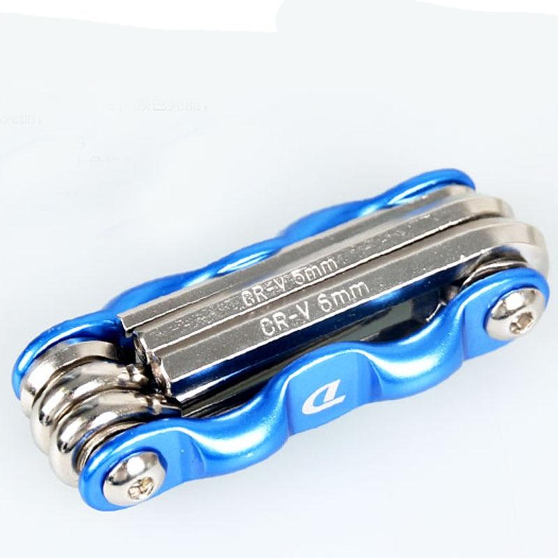 6 em 1 multi uso bicicleta reparação de bicicletas kit ferramentas hex chave porca reparação pneu hex allen chave chave chave chave soquete haste extensão