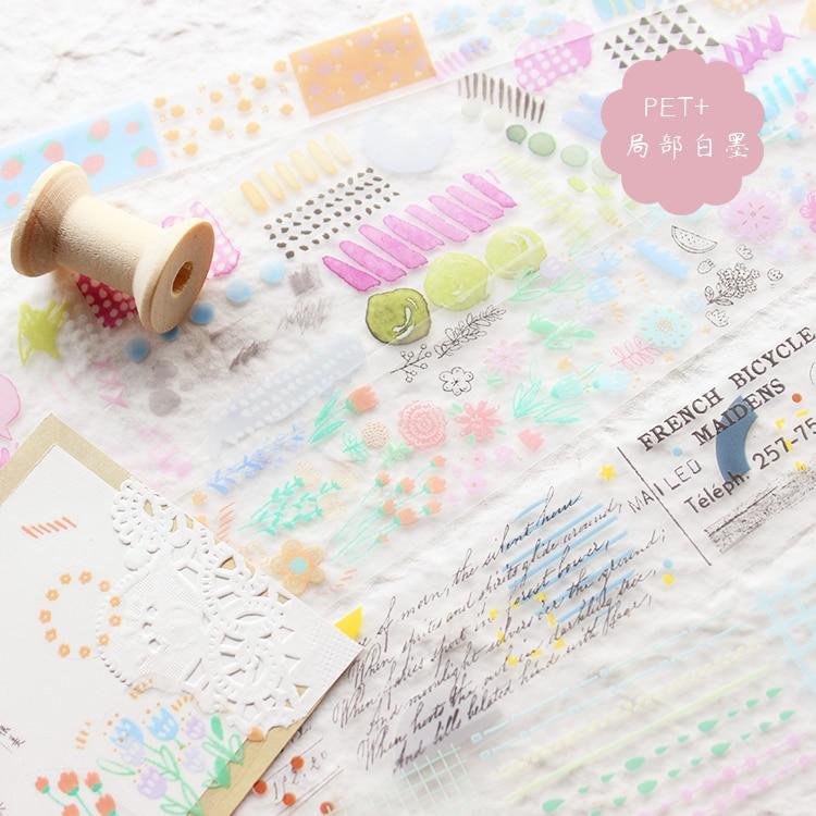 Moodtape  washi  tape pet transparency label words tape Scrapbooking Album  diy handmade decoration sticker masking tape paper