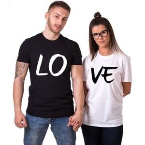 TShirt Couple Clothes Summer Tops T Shirt Men Women Shirts Cotton T-shirt Love Print Matching Valentines Weeding Gift Basic Tee