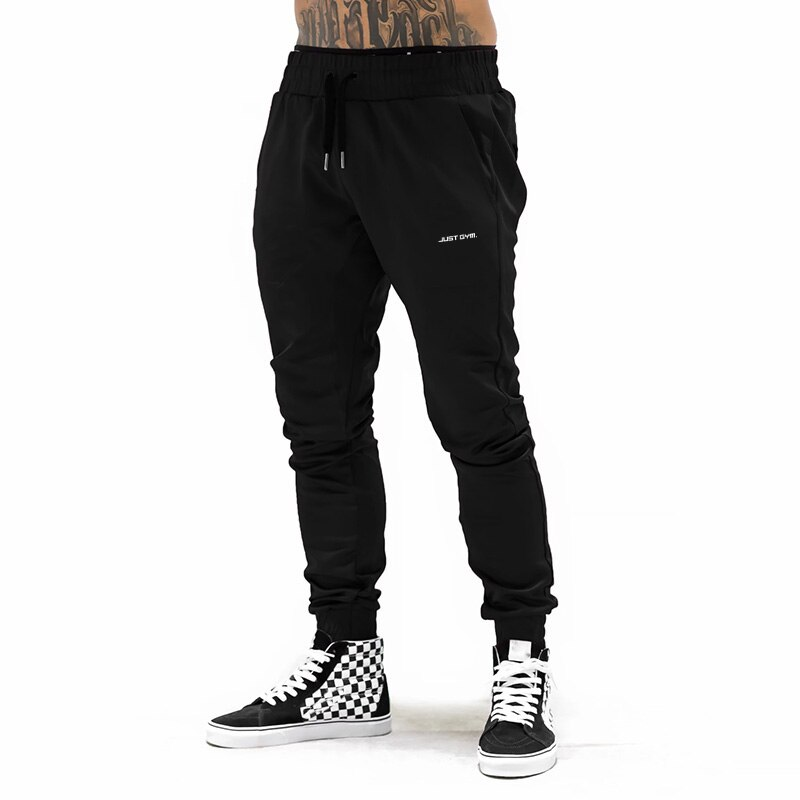 Brand Men Gym Sweat Pants Fitness Casual Elastic Trousers Bodybuilding Clothing Sports Cotton Sweatpants Joggers Pants