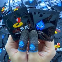 通気性のあるゲームコントローラーの指カバー,pubgタッチスクリーン用の指カバー,プロ仕様の発光手袋,1/10ペア
