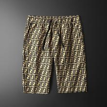 Shorts Men's Trendy 5-point Beach Pants 2021 Summer New Fashion Letter Printed Quick Drying Pants