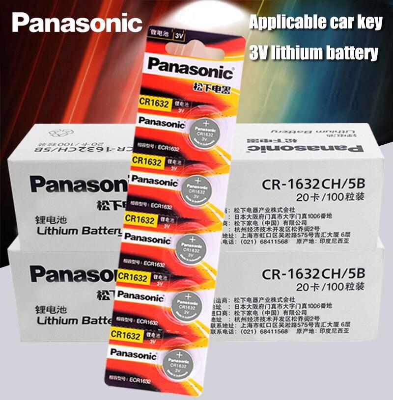 200 قطعة بطاريات باناسونيك cr1632 زر خلية عملة ساعة 3 فولت التحكم عن بعد مفاتيح السيارة DL1632 ECR1632 GPCE1632 بطارية ليثيوم