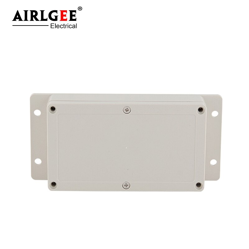 158*90*46mm gris exterior ABS plástico impermeable caja de conexiones eléctricas con orejeras caja eléctrica de pared- en caja sellada