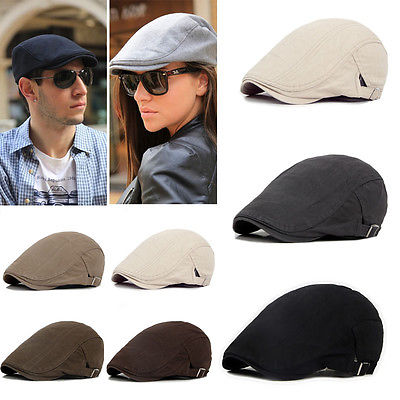 Adjustable Beret Caps Outdoor Sun Breathable Bone Brim Hats Womens Mens Herringbone Solid Flat Beret