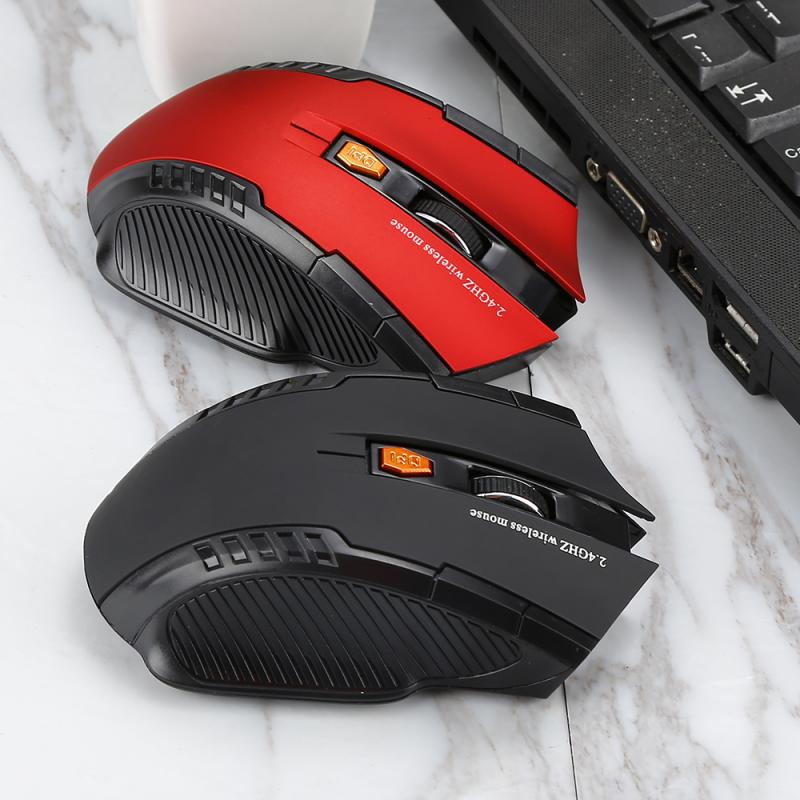 Mouse Wireless Gaming Laptop Mice USB Computer 1600DPI 2.4GHz 6 Buttons Mini Portable Mouse Mice 2 C