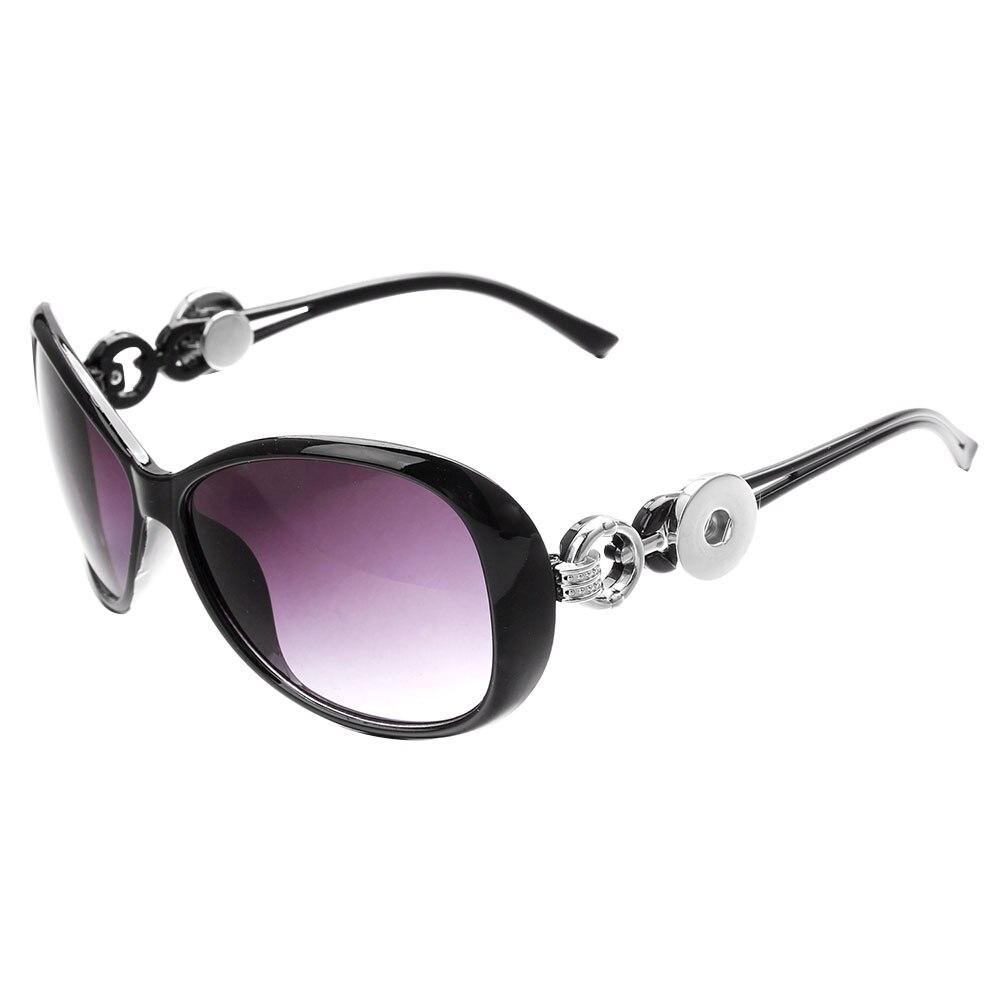 6 cores botão snap óculos de sol retro oval óculos óculos óculos de sol ajuste 18mm botão snap para jóias femininas zn007
