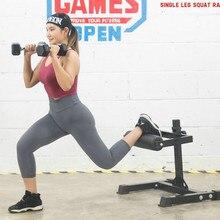 Single-leg Squat Stand with 7 Height Adjust, Home Gym Portable Single-leg Racks Strength Training Multifunction Stand