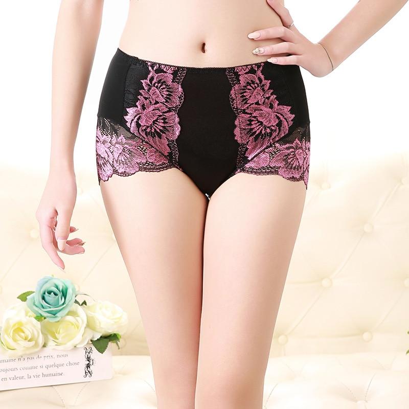 Women's Panties High Waist New Sexy Lace Modal Plus Size Cotton Panties Big Size Underwear Female Cotton Briefs of Large Size