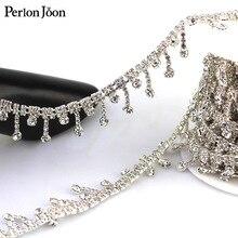 Pendentif avec pompons et franges de 1 mètre   Chaîne métallique en cristal pour robe, sac, accessoires chaussures ML004