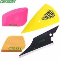 cngzsy car protective film squeegee pointed corner scraper rubber glass water wiper automobile vinyl wrap window tint tools k61