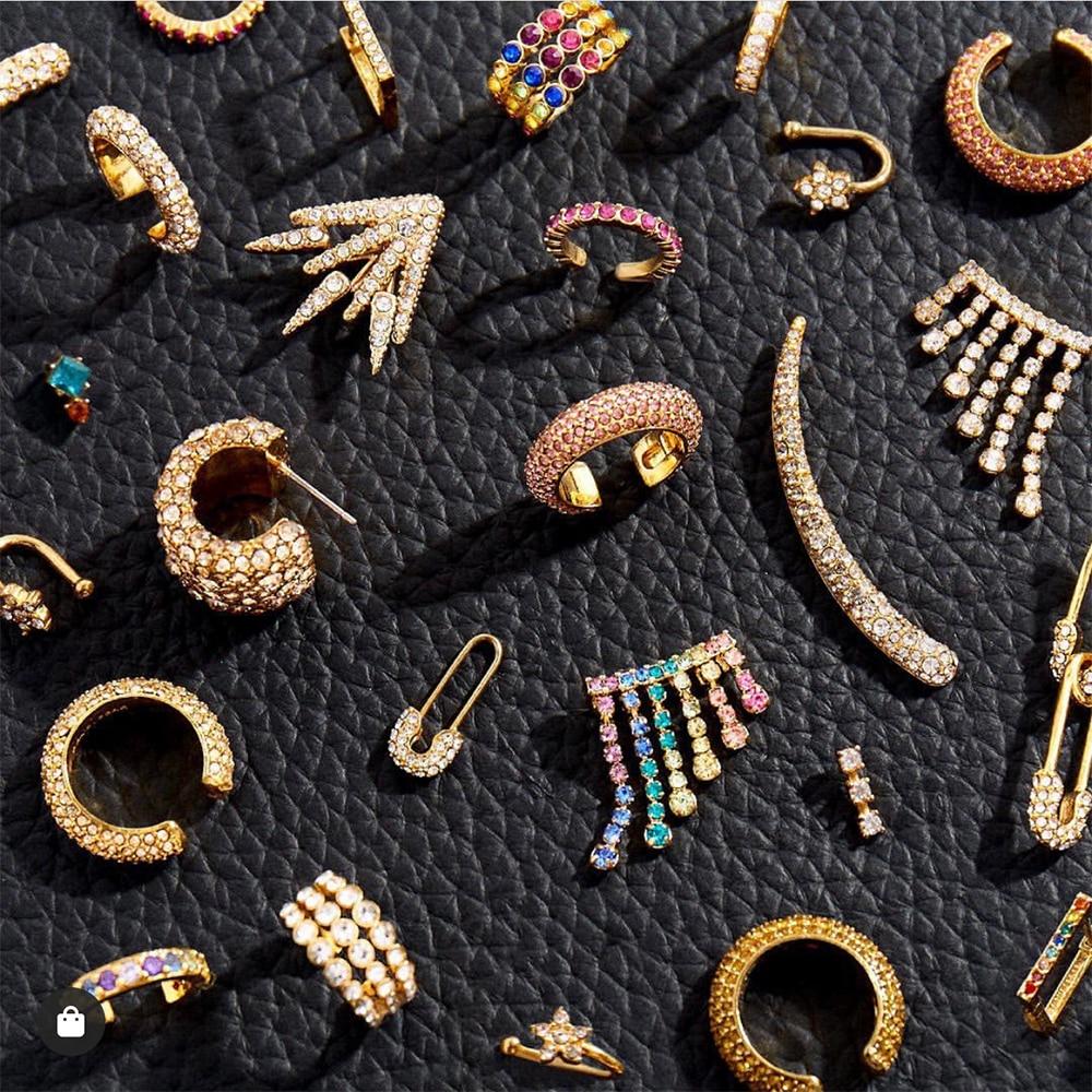 New Design Long Paved CZ Zircon Clip on Earrings Female Ear Cuff Set Stackable C Shaped Earcuffs Cartilage Earring for Women