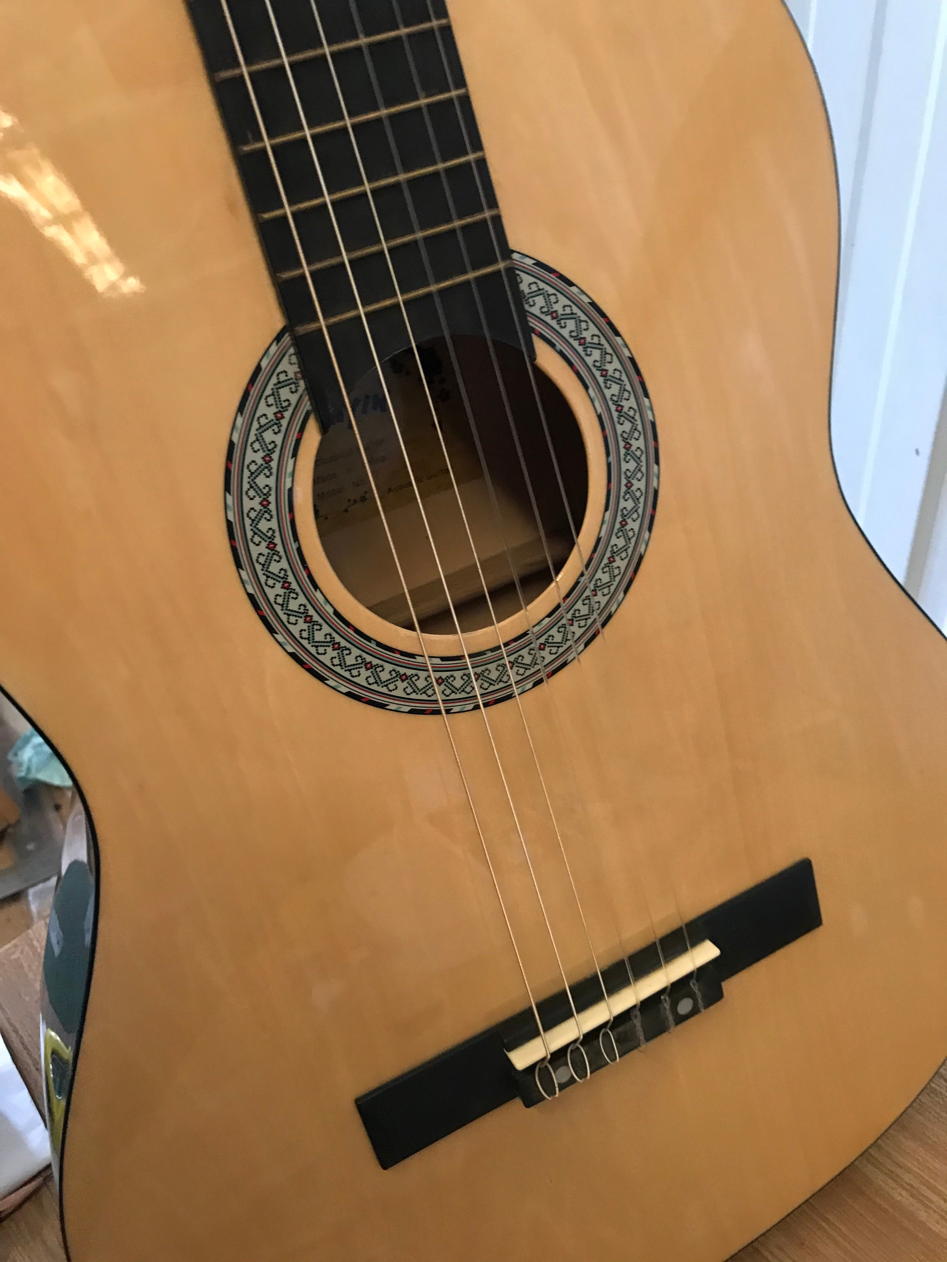 39 Inch 21 Fret Basswood Thin Body Acoustic Guitar 6 Strings Solid Wood Guitar Folk Guitar with Guitar Pickup enlarge