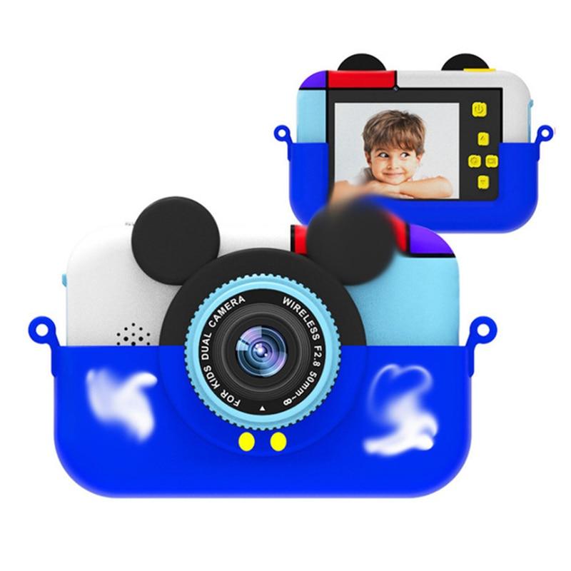 Cámara Digital portátil para niños 2000W HD adorables formas de dibujos animados 2 pulgadas IPS pantalla Anti-caída Mini niños Cámara juguete para regalo para niños