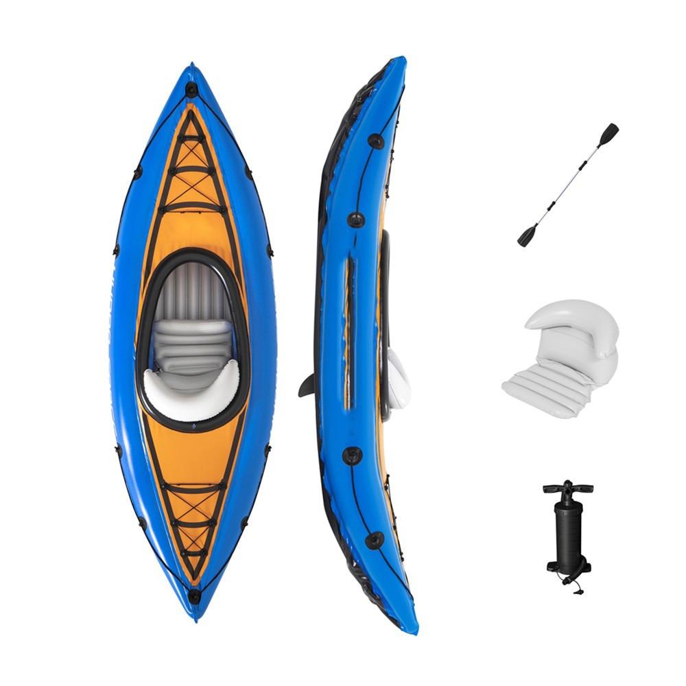 Kayak Canoe water sports rafting boat single person folding boat inflatable Diaoyutai boat 40.5*22.5*76.5 cm 2021 New