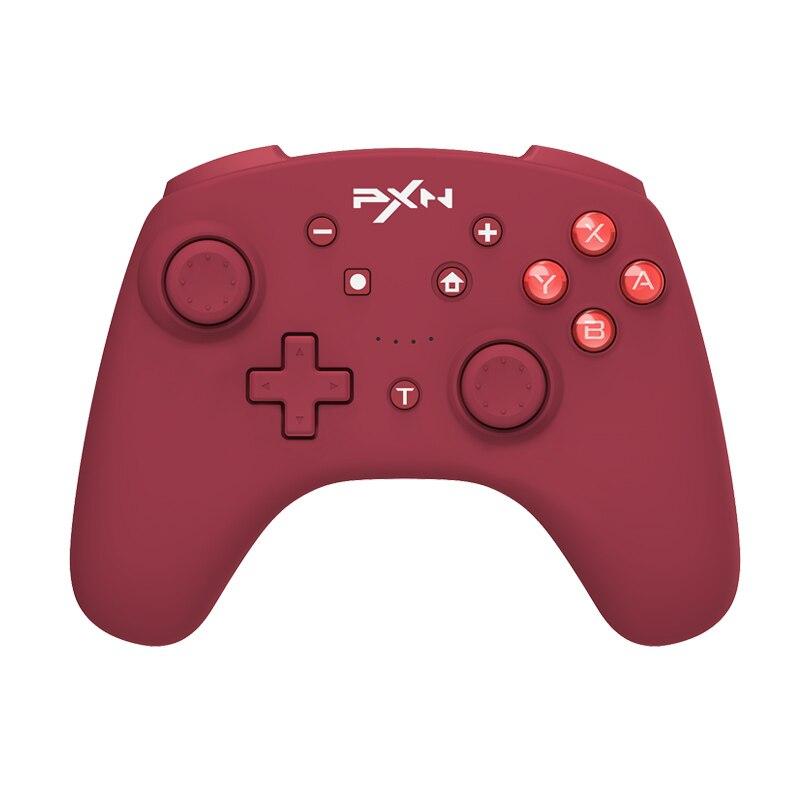 نينتندو سويتش المراقب PXN لعبة غمبد بلوتوث-متوافق مع نينتندو لايت/الكمبيوتر USB كابل بيانات عن بعد NFC/Amibo الأحمر