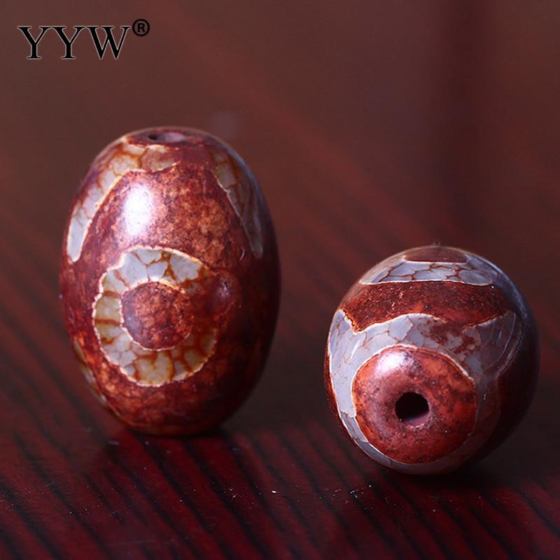 YYW Frete Grátis Contas Xingyue Bodhi Budista Tambor Diy Polido Vermelho Níquel Chumbo & Cádmio Livre Aprox 1mm 5 pçs/lote 16x24mm