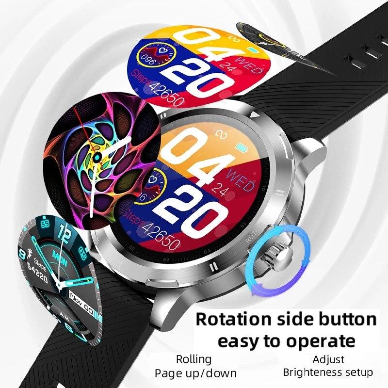 Menu de Rolamento Cinta para Ios Relógio Inteligente Masculino Novo Esportes Fitness Rastreador Temperatura Smartver Changable Android Telefone K15