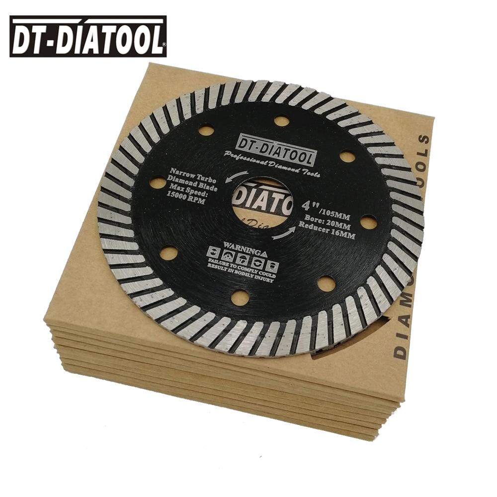 10pc Diamond Saw Blade Cutting Disc Concrete Narrow Turbo Wheel for Stone Granite Masonry Block Concrete Dry or Wet 105-230mm