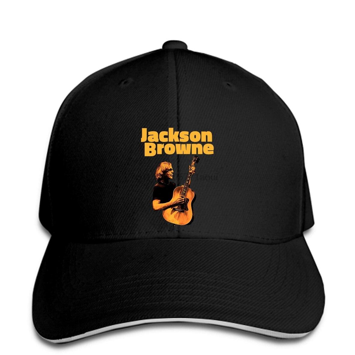 Gorra de béisbol nueva Popular Jackson Browne Tour concierto negro gorras de béisbol s-x