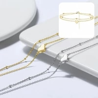portable simple copper heart shape women feet anklet chain 3 colors anklet attractive for friends