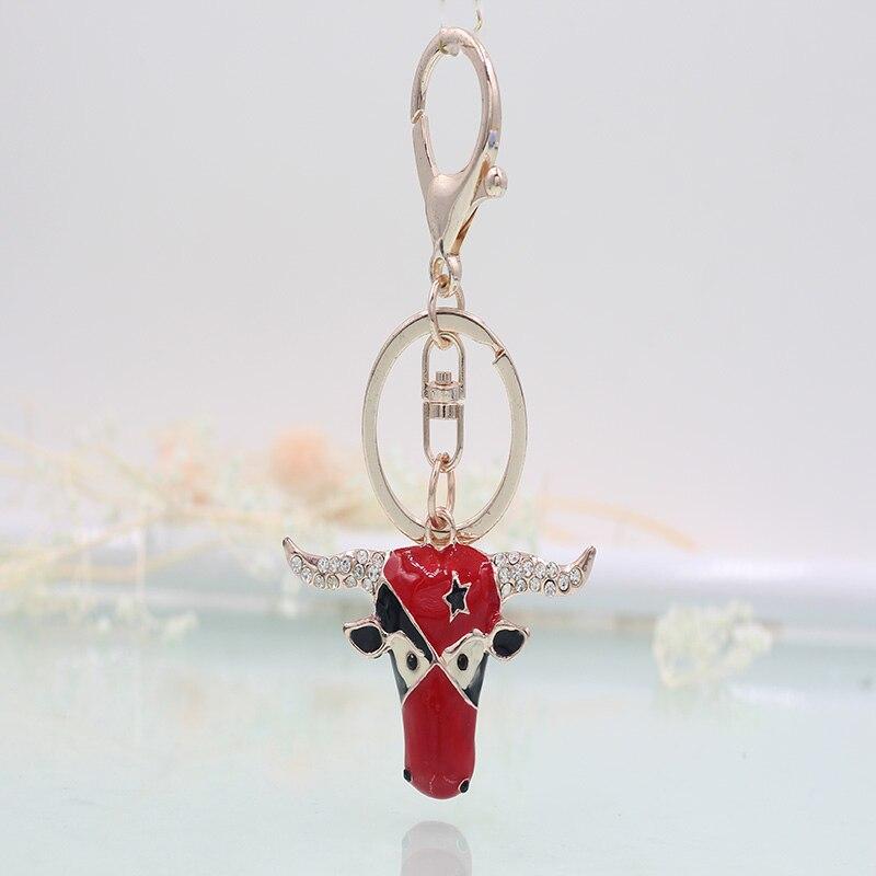Llavero Vick Dolly oro rosa de moda Taurus estrás de cristal multicolor regalo para el coche llavero de mujer cartera colgante joyería
