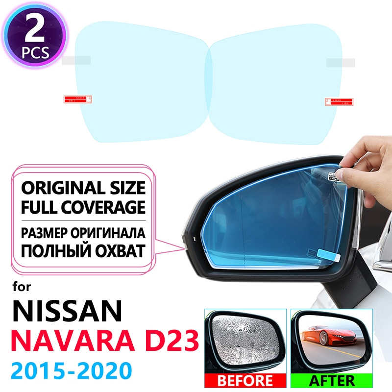 Full Cover Anti Fog Film Rainproof Rearview Mirror for Nissan Navara NP300 D23 2015~2020 Films Accessories 2016 2017 2018 2019