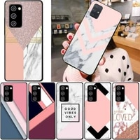 candy color marble phone case for samsung note 8 9 10 20 case for note10pro 10lite 20ultra m20 m31 funda case