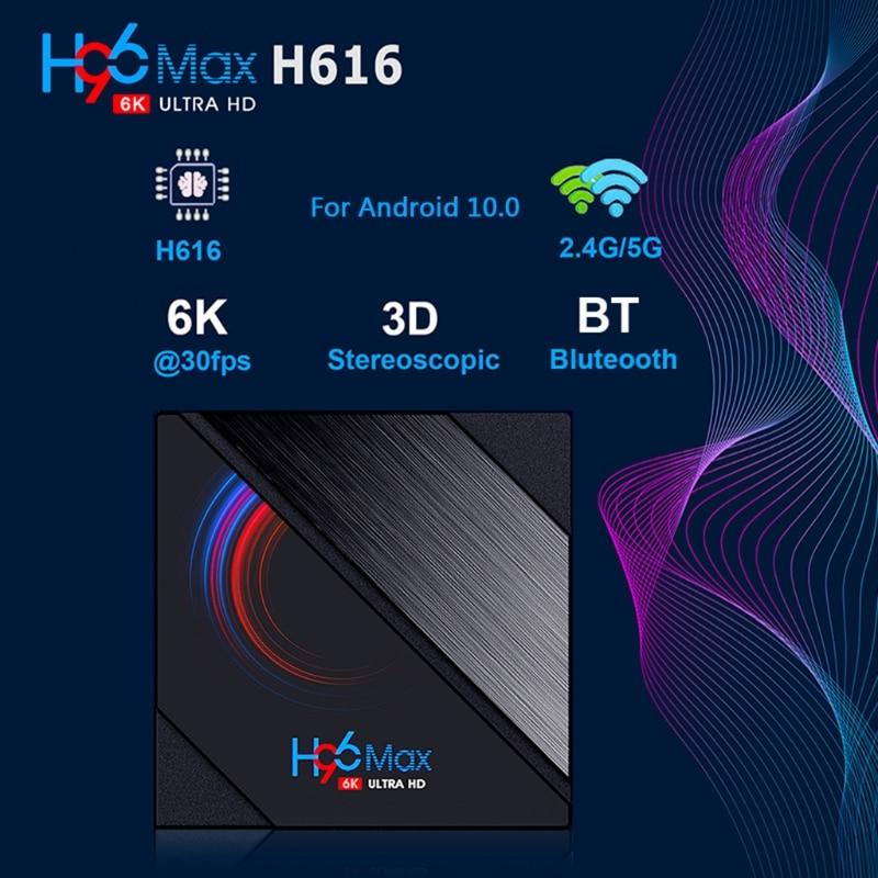 H96 ماكس الذكية صندوق التلفزيون 16GB 32GB 64GB Allwinner H616 رباعية النواة ARM اللحاء A53 واي فاي BT4.0 يوتيوب Reproductor مجموعة صندوق
