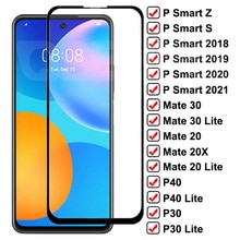 9D Tempered Glass For Huawei Mate 30 20 10 Lite 20X P30 P40 Lite Full Screen Protector P Smart Z S 2