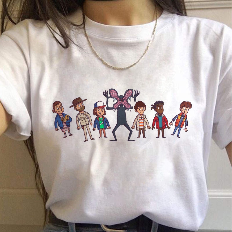 Fremden Dinge Saison 3 frauen T-shirt Harajuku Grafik T-shirt Kurzarm Grunge T-shirt femme t-shirt lustige kostüm