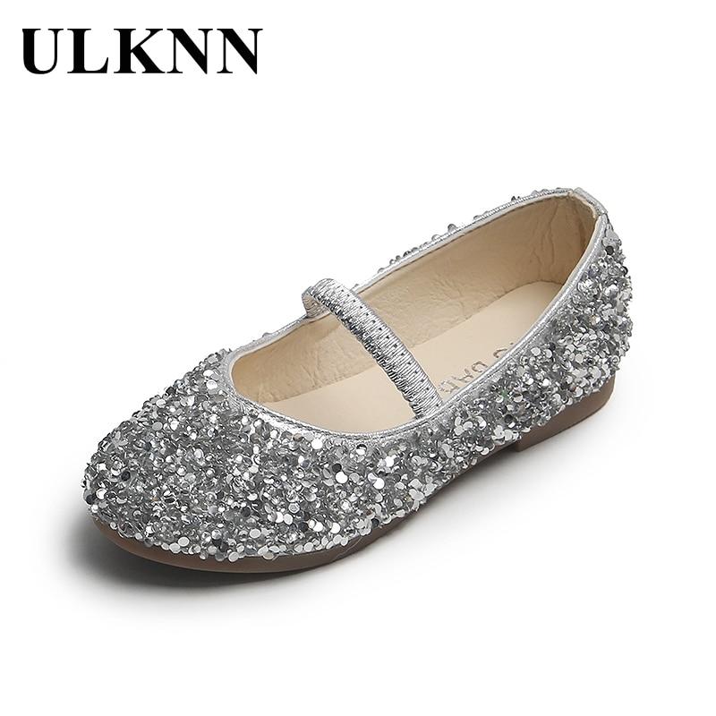ULKNN Girls' Leather Shoes Princess 2021 Spring New Non-Slip Soft Bottom Wear-Resistant Little Baby