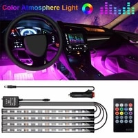 10w rgb colorful led car decor atmosphere strip light usb remote music control home party stage decor lights ambient neon lamps