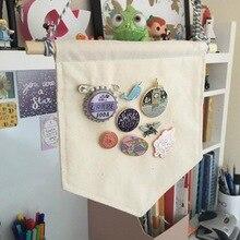Pin de algodón en blanco pantalla colgante pancarta de banderines decoración insignia botones y colección de solapa decoración de pared accesorios para el hogar