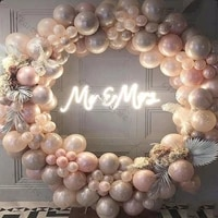 180190pcs balloon garland arch doubled coffee wedding decoration pearl champagne cream peach balloon baby shower party decor