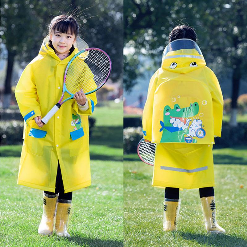 Children's raincoats, boys, primary school students, kindergarten with schoolbags, big children, waterproof poncho for school, b