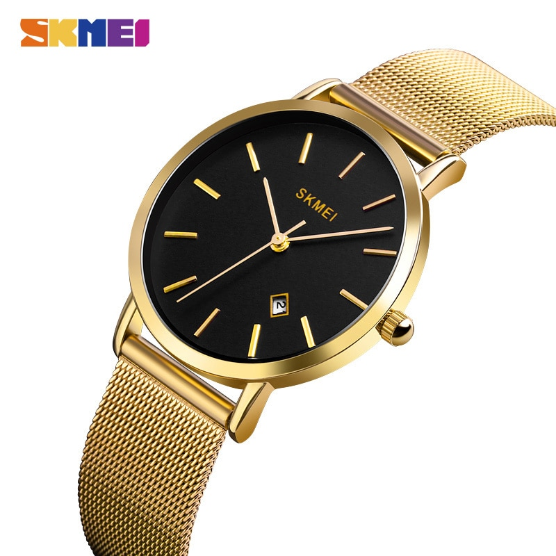 2020 SKMEI Simple Ladies Wristwatches Steel Strap Women Watches Ladies Watch Female Quartz Watches Montre Femme 1530 Clock