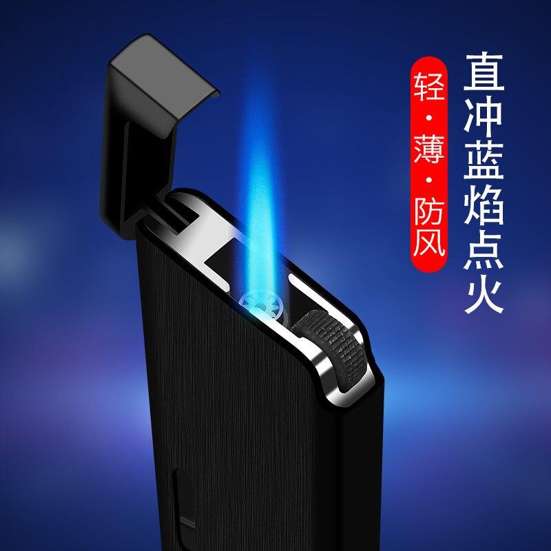 2020 New Metal Gas Lighter Turbo Lighters Smoking Accessories Butane Torch Lighter Cigar Cigarettes Lighter Gadgets For Men enlarge