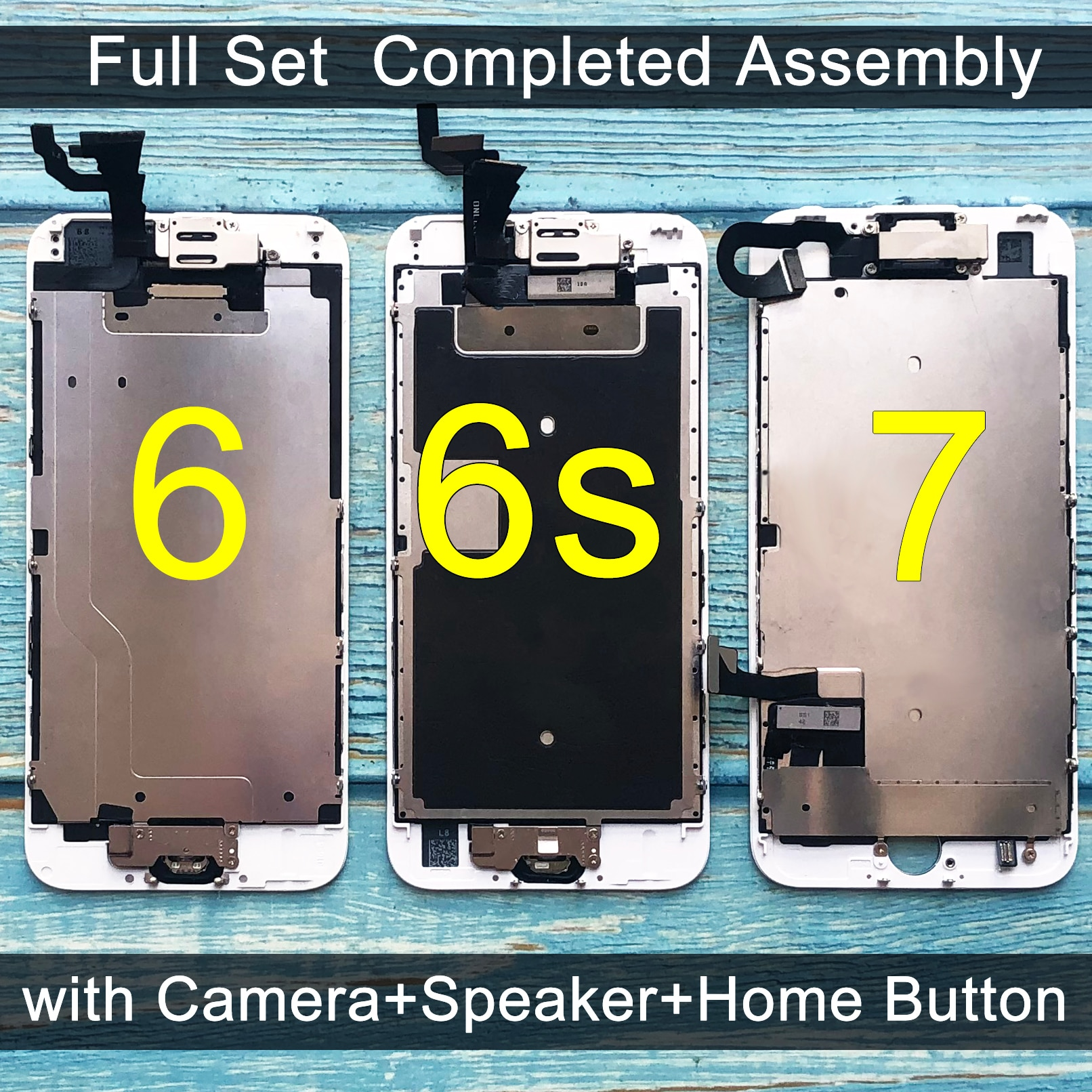 For iPhone 6 LCD Full set Assembly Complete Touch 6S Screen Replacement Display iphone 7 lcd camera+home button