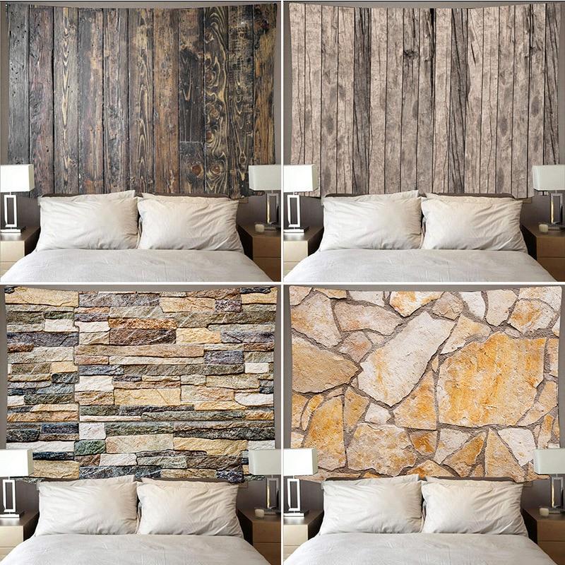 Nordic Holz Tapisserie Simulieren Boden Druck Hause Wand Dekoration Ziegel Wand Hängen Multicolor Marmor Wand Decke