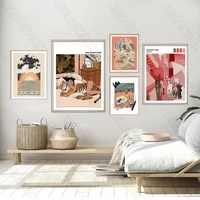 home decor canvas tiger girl poster nordic style waterproof ink print art painting modern living room bedroom decoration