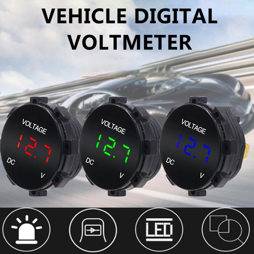 Instrumento modificado para el coche voltímetro de coche diseño Universal con piezas y Equipos ligeros de montaje de automóviles