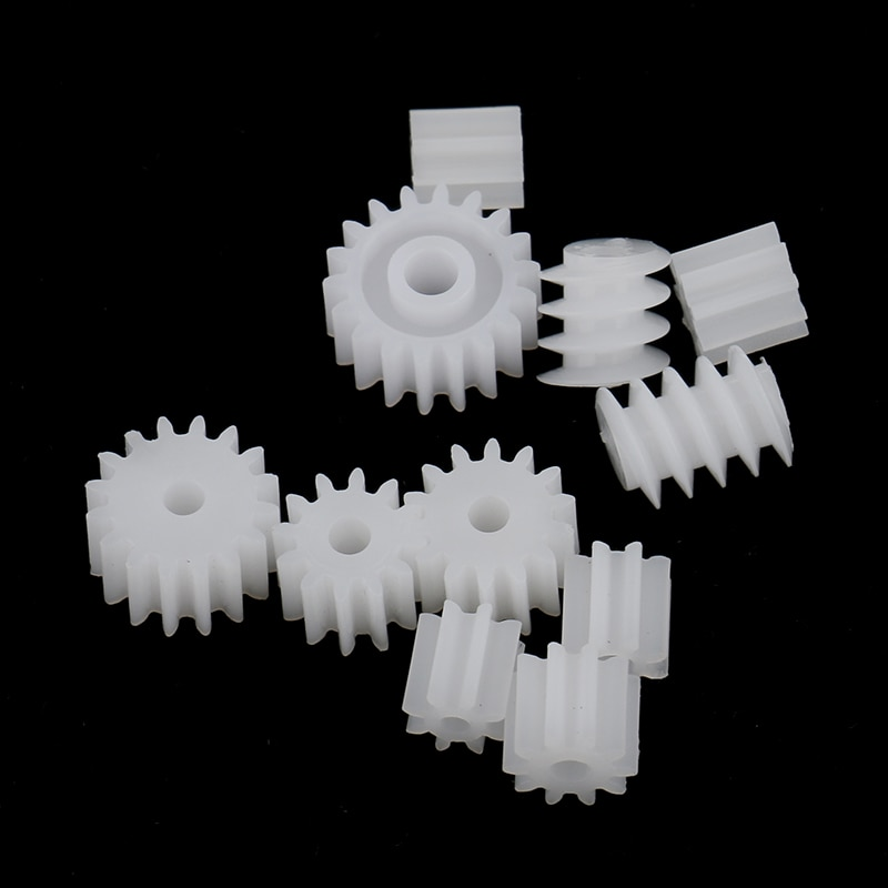 11pcs Plastic Assorted Gears Worm Kits For Kids Toys DIY Robot RC Car Models
