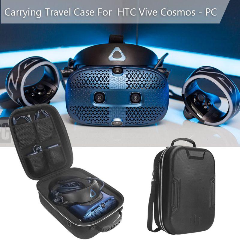 1 مجموعة الصلب تحمل حقيبة مربع واقية قذيفة غطاء السفر حالة ل HTC فيف كوزموس VR الواقع الافتراضي سماعة اكسسوارات الحقيبة