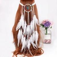 dreamcatcher feather headband festival dream catcher hair piece boho indian wedding fairy headbands headdress tribal headpiece